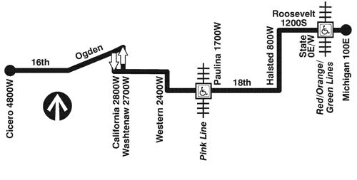 18 16th 18th Bus Route Info Cta