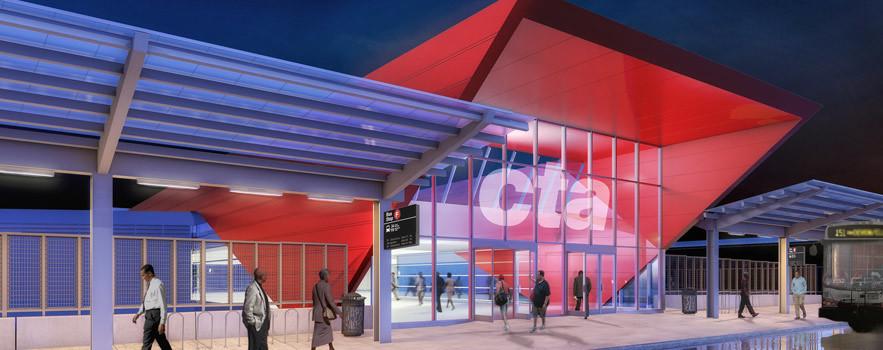 Arrow Pointing Down >> CTA 95th/Dan Ryan Station Improvements - CTA