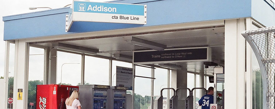 Sitetransitchicagocom Chicago Subway Map.Addison Blue Line Station Station Information Cta
