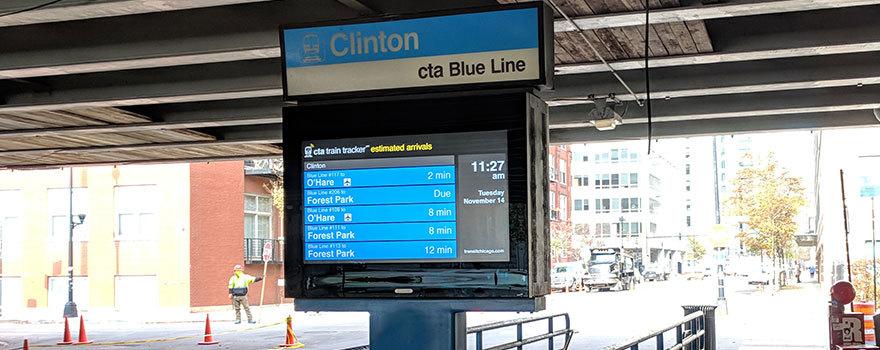 Sitetransitchicagocom Chicago Subway Map.Clinton Blue Line Subway Station Station Information Cta