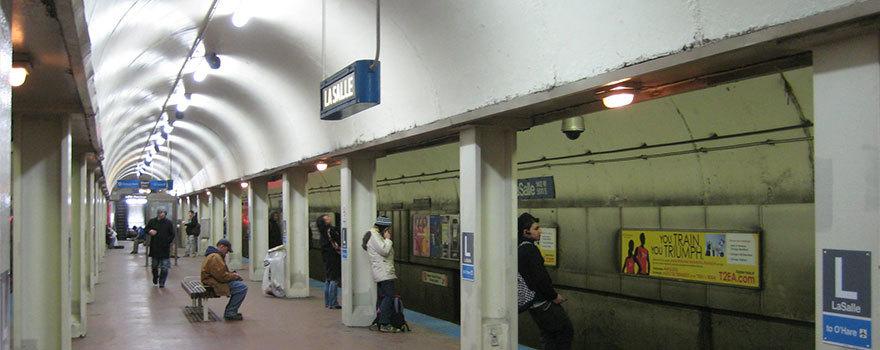 Sitetransitchicagocom Chicago Subway Map.Lasalle Station Information Cta