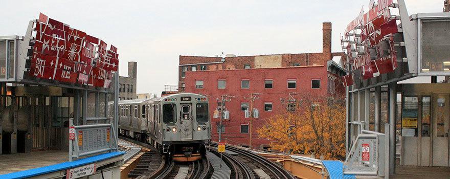 Sitetransitchicagocom Chicago Subway Map.Chicago Brown Line Station At Chicago Franklin Station Information