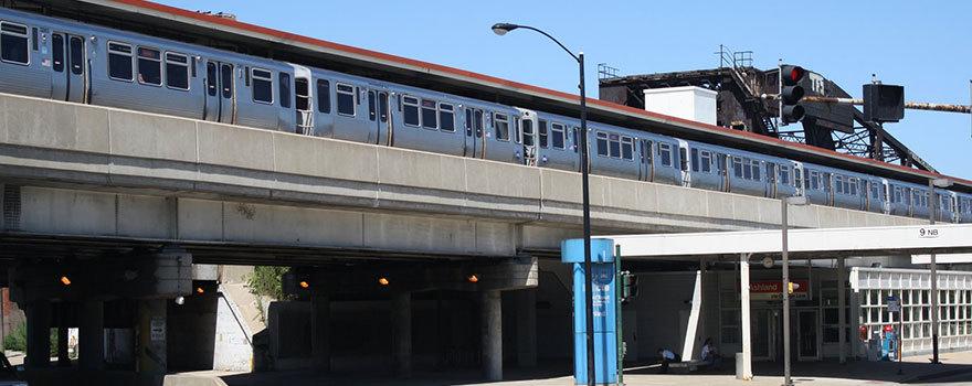 Sitetransitchicagocom Chicago Subway Map.Ashland Orange Line Station Station Information Cta