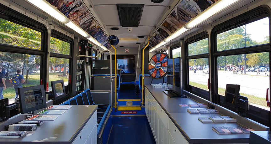 Interior view of the Community Connection bus