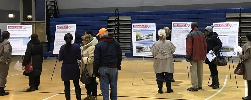 People at a Planning open house