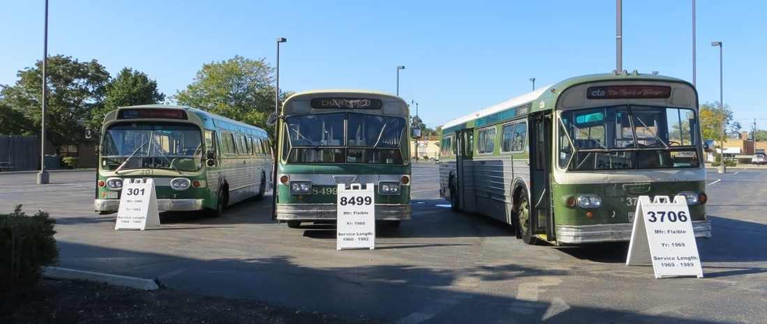Heritage Buses at Skokie Shops