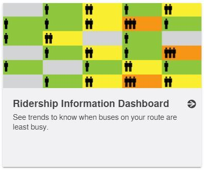 Button to access the bus crowding dashboard report