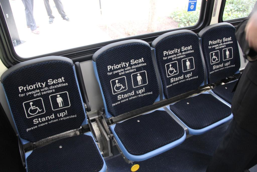 Seating on new electric bus