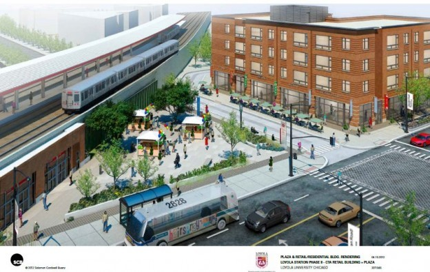 rendering of future loyola station