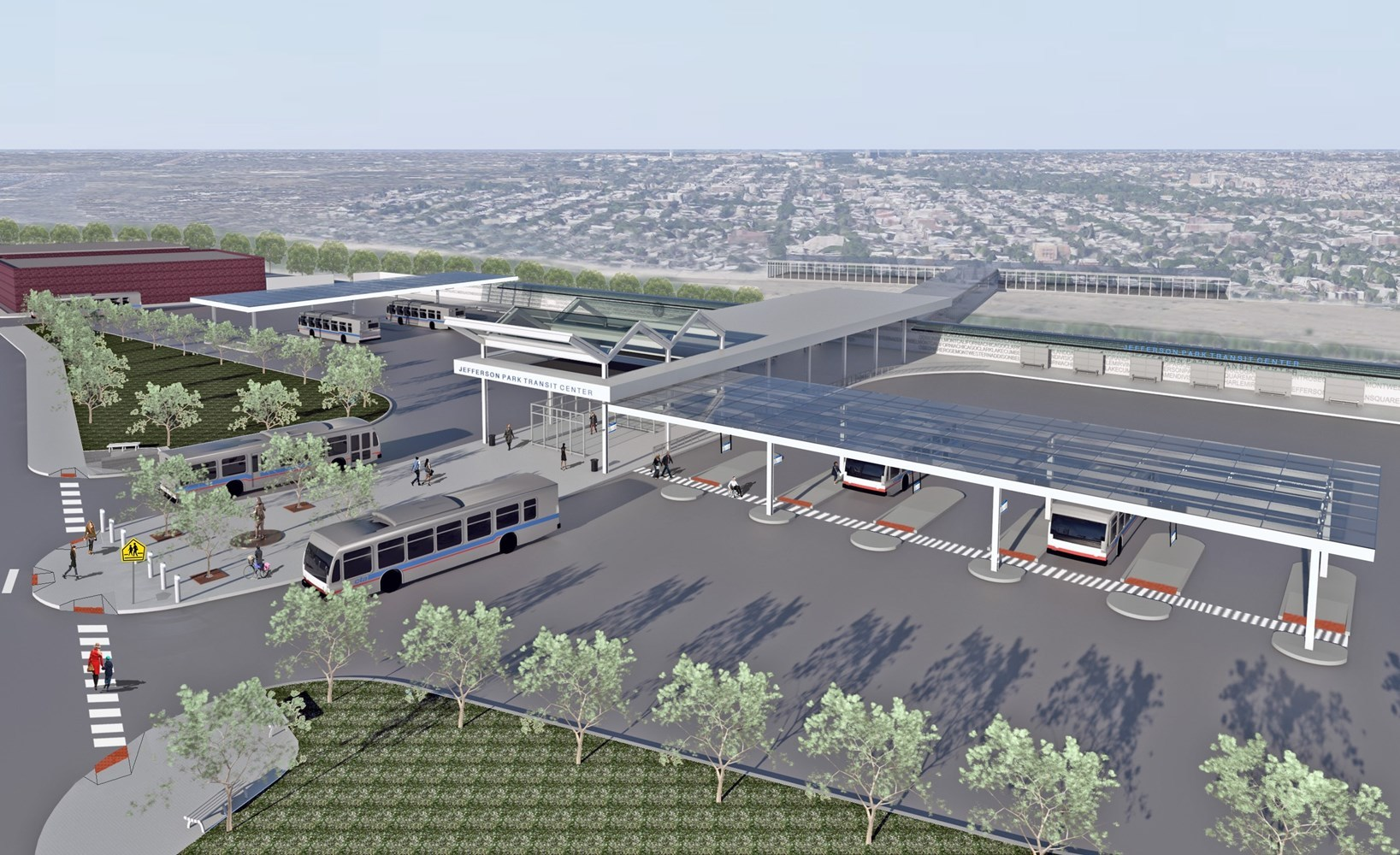 Rendering of Jefferson Park Bus Terminal