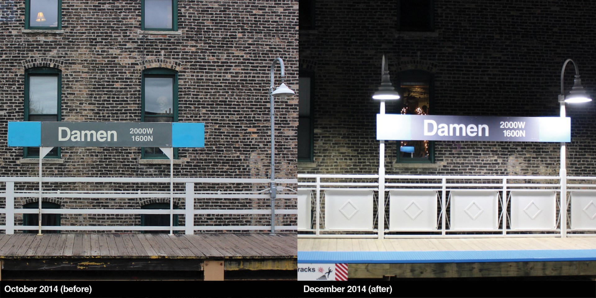 Damen Platform Before and After Work
