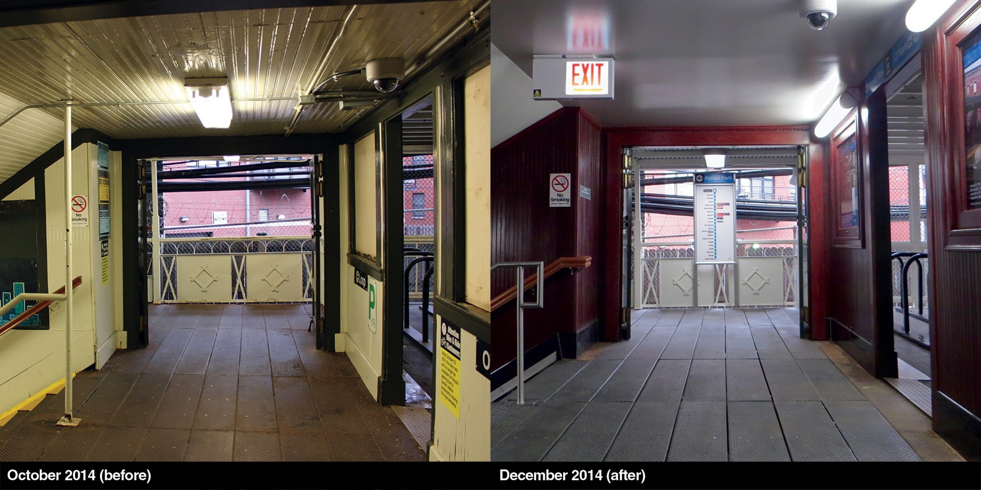 Damen Stairway Before and After Work