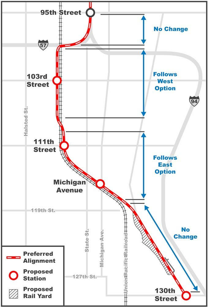 Red Line Extension Preferred Alignment