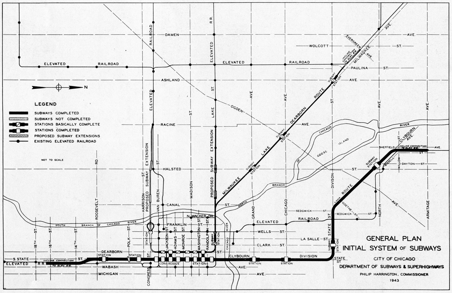 Map of Initial System of Subways