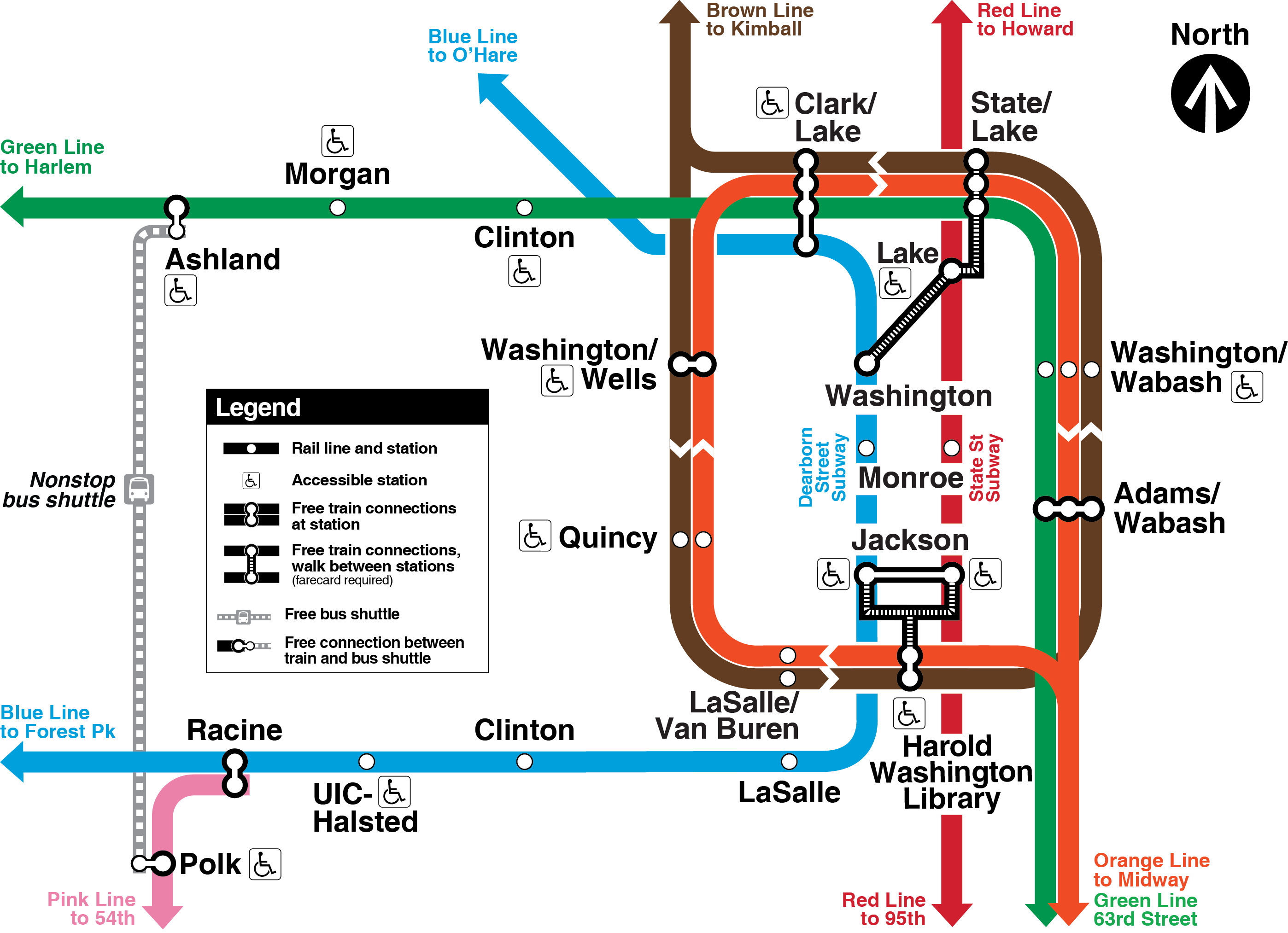 Transit Chicago Map.Weekend Service Changes Cta