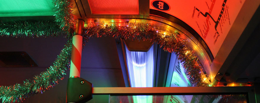Holiday Train interior detail