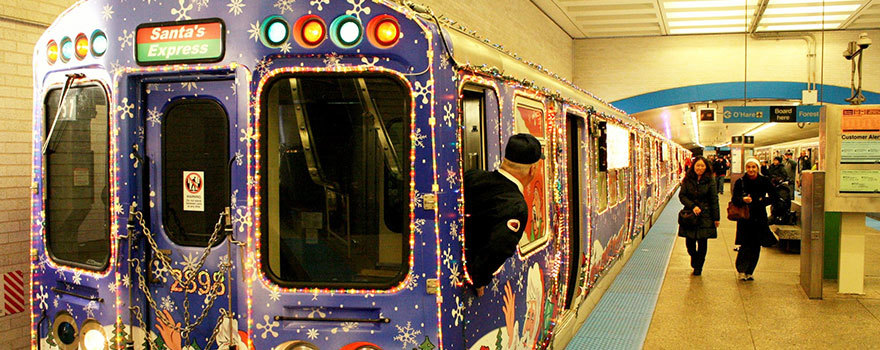 Holiday Train in the Milwaukee-Kimball Subway