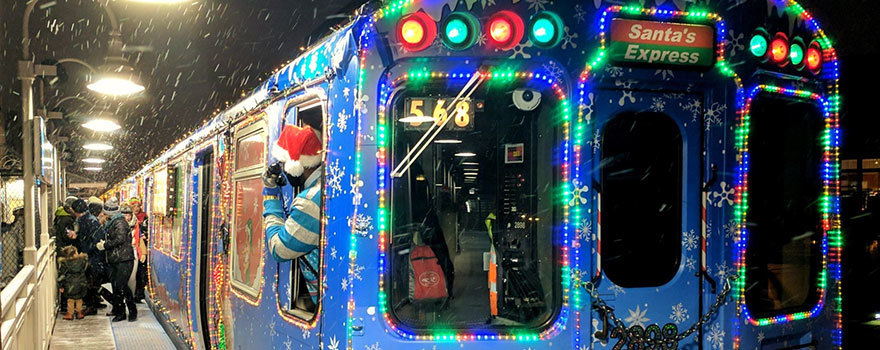 Holiday Train at Damen on the Blue Line