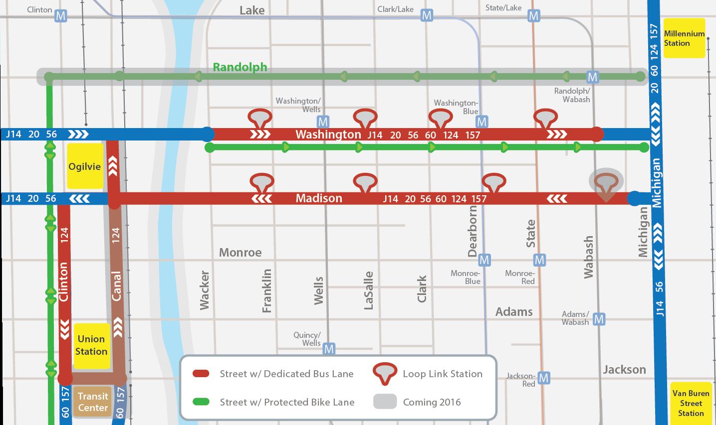 Sitetransitchicagocom Chicago Subway Map.Loop Link Cta