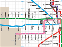 Train Map Chicago Maps   CTA Train Map Chicago