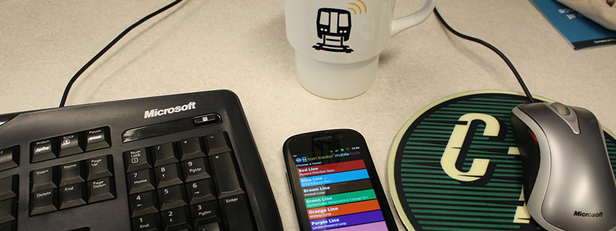 Train Tracker and keyboard