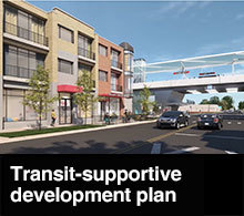 Transit-supportive development plan