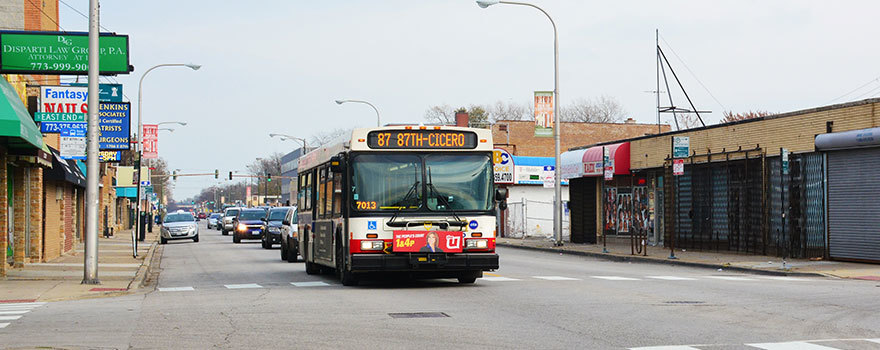An 87 bus at East End