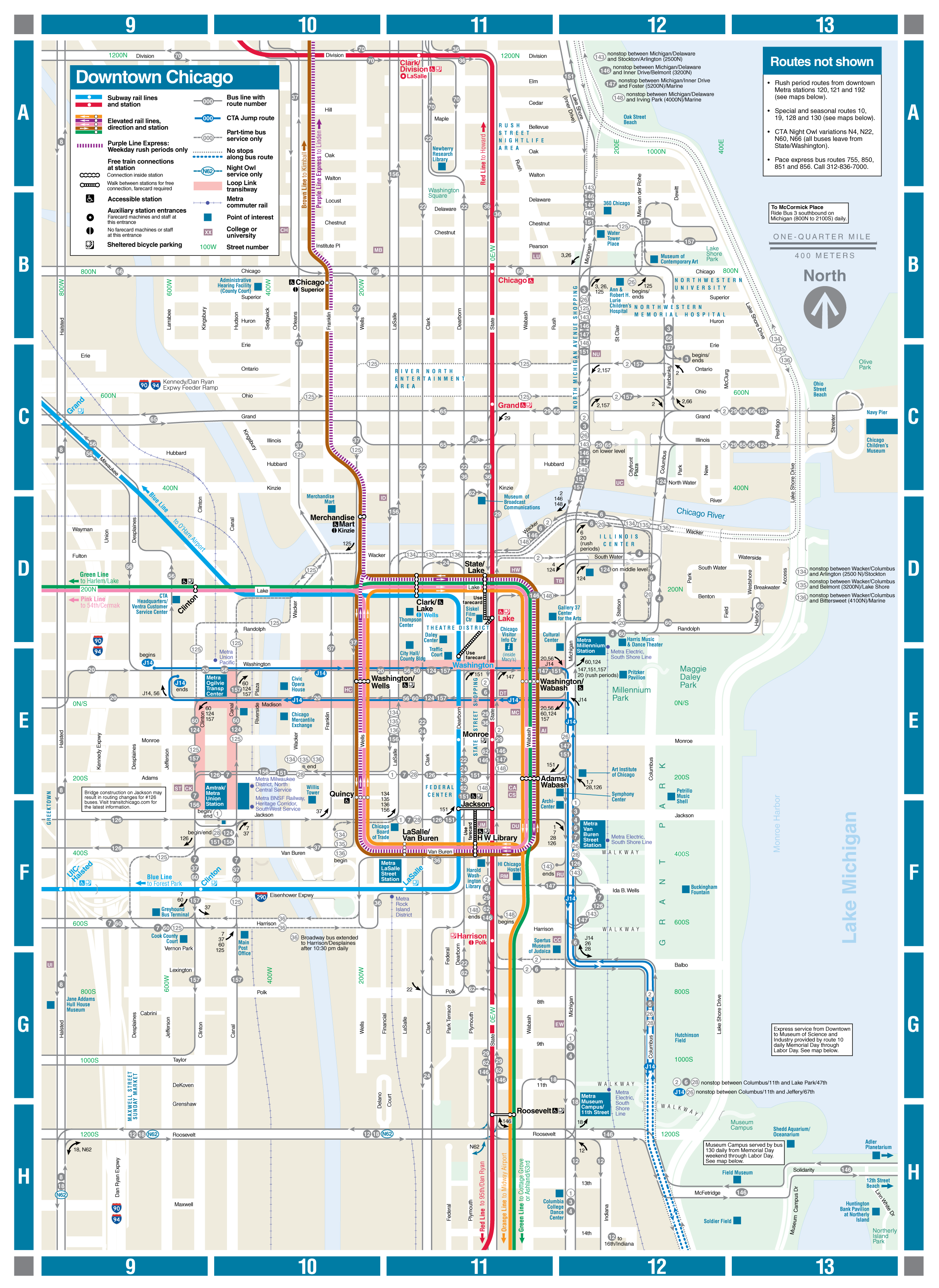 Web based downtown map   CTA