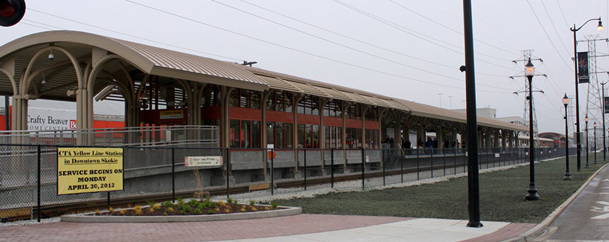 Oakton Skokie Station Information Cta